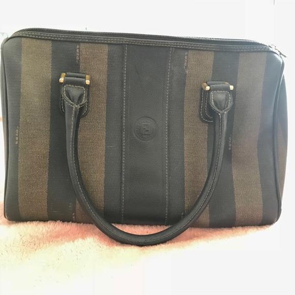 b887a9b53f27 Fendi Handbags - Pequin Boston Fendi handle bag